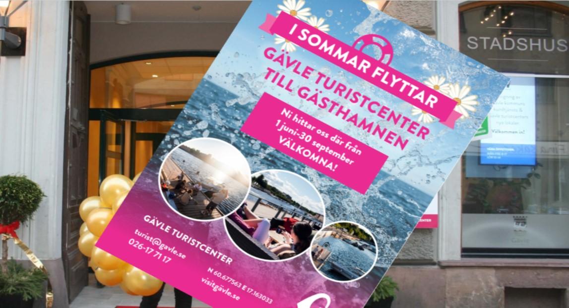 Gävle Turistcenter flyttar under sommaren ut till Gästhamnen!