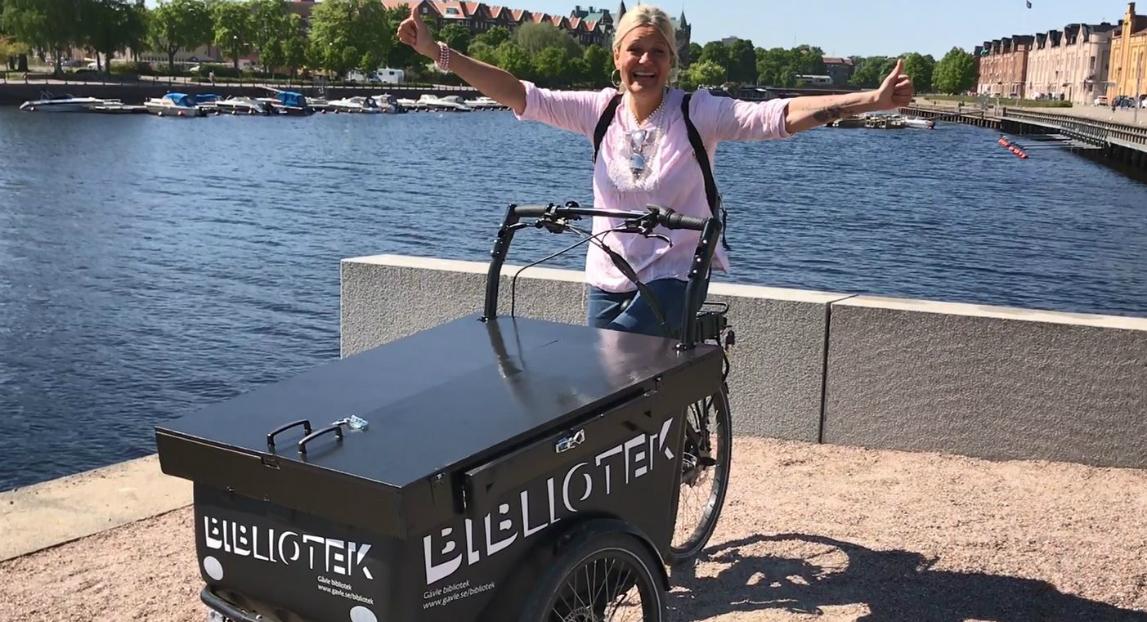 Ett cyklande minibibliotek i Gävle!