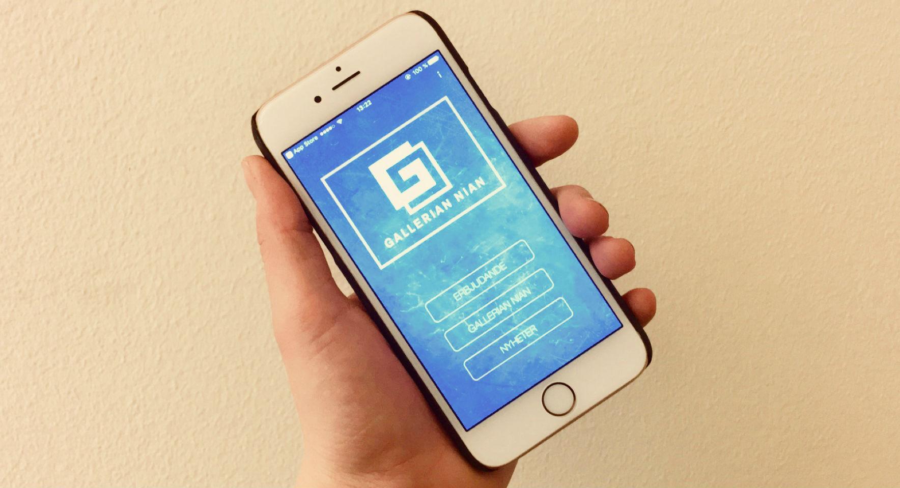 Gallerian Nian lanserar en app!