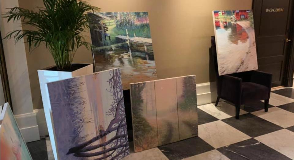 Konstutställning av Johan Thunberg, Elite Grand Hotel